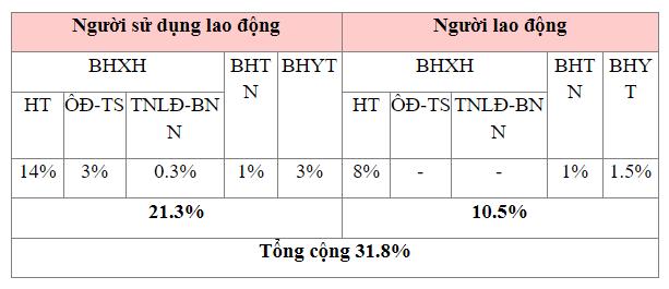 Mức đóng BHXH đối với người lao động Việt Nam năm 2021 - ảnh 1
