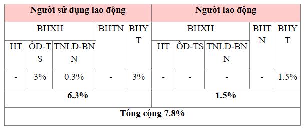tỷ lệ trích nộp BHXH đối với người lao động nước ngoài năm 2021 - ảnh 1