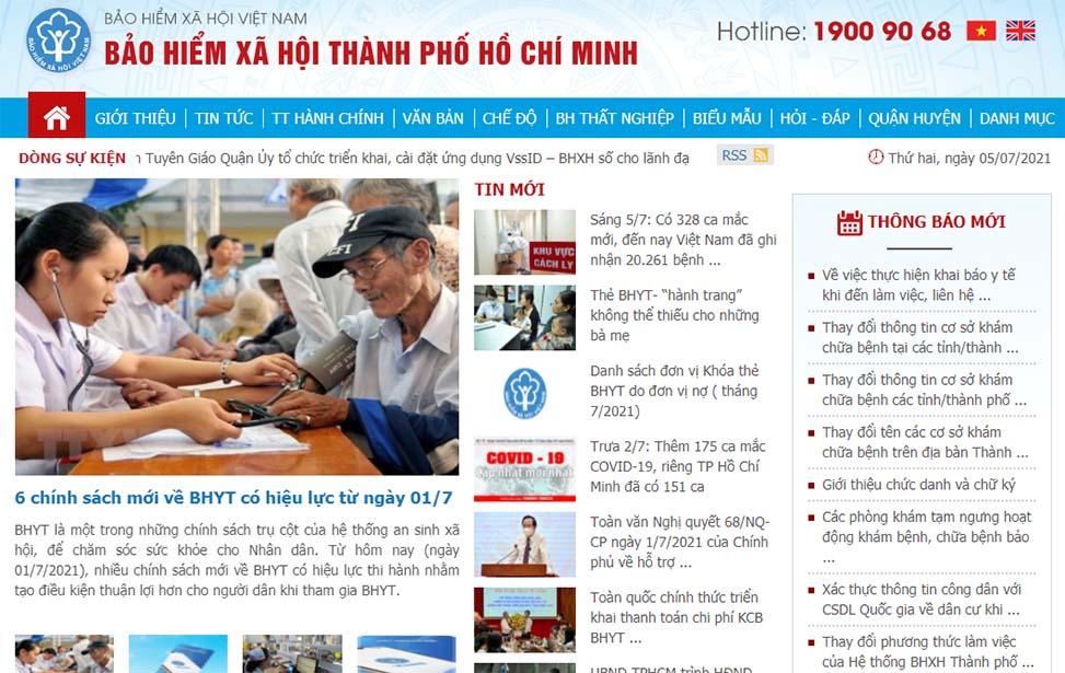 Cổng thông tin BHXH điện tử Thành phố Hồ Chí Minh